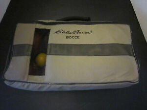 Eddie Bauer Bocce Ball Set Good Condition Complete With Carrying Case