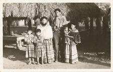 FL * Seminole Indian Family  RPPC  ca 1940 * Simpson #1323   Everglades