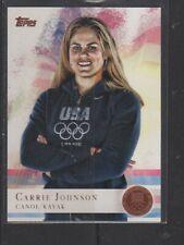 CARRIE JOHNSON - 2012 OLYMPICS CANOEING - BRONZE MEDAL -  TOPPS #74