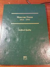 Mercury Dimes 1916 - 1945 Archival Quality Book only littleton free ship
