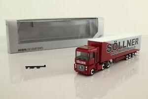Herpa; Volvo F12 Artic Truck; Curtainside; Sollner; Very Good Boxed