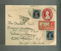 1941 Miraj India Airmail Censored cover to USA Forwarded Mission Hospital