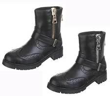 Damenstiefel & -Stiefeletten mit Blockabsatz im Boots-Stil aus Kunstleder für Mittlerer Absatz (3-5 cm)
