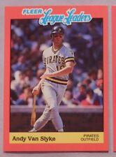 1989 Fleer League Leaders Andy Van Slyke Pirates Baseball Card