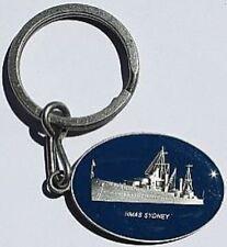 HMAS Sydney RAN Blue Enamel Keychain