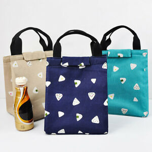 WOMEN PORTABLE FASHION CARTOON LUNCH BAG PICNIC FOOD THERMAL BOX CONTAINER GOOD