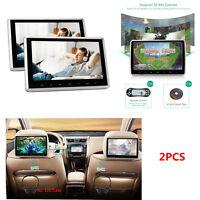 Car Headrest Monitor DVD Player USB SD HDMI FM Rear-Seat Entertainment System