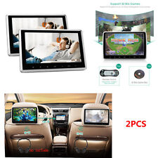 Car Headrest Monitor DVD Player USB SD HDMI FM Rear-Seat Entertainment System