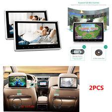 AUTO poggiatesta Monitor DVD PLAYER USB SD HDMI FM posteriori-Seat Entertainment System
