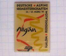 Deutsche Alpine Ski campeonatos/slalom/Allgäu' 97... Sport pin (143b)
