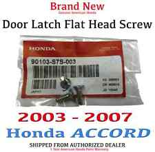 03-07 Genuine OEM Honda Accord Door Latch Flat Head Screw 90103-S7S-003 (x3)
