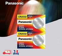 Piles/Cells Boutons CR2032, DL2032,ECR2032,GPCR2032 Panasonic Lot 2 pièces