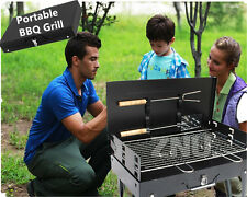 NEW easy carry Picnic Charcoal Barbecue BBQ Grill Hibachi