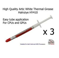 3 x Artic White Halnziye HY410 High Quality Thermal Heatsink Processor Paste