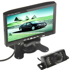 7'' TFT LCD Car VCR Monitor + cámara de copia de seguridad de vista trasera 7 IR