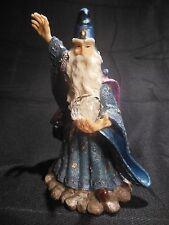 HUGE Avery Creation Merlin W/ Hat & Robe Holding A Crystal Ball Figurine - 2000