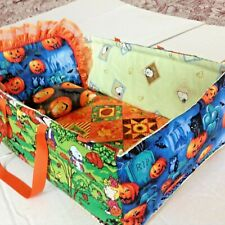 """15""""Quilt Patchwork baby doll/toy/bed-bag crib head board/lace pillow gift play 1"""