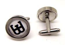 Ettore Bugatti cufflink pair silver men gift Wedding business Veyron