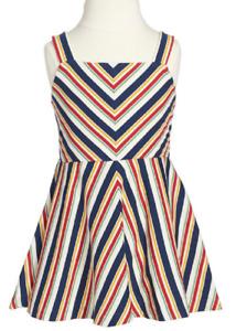 Ralph Lauren Girls' Multi-Stripe Jersey Dress, Beige, Size 5, MSRP $45