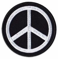 Peace-Zeichen Welt-Frieden Symbol Pazifist Rund Aufnäher Patch Sticker Aufbügler
