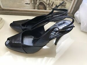 NEW  Auth Baldinini Genuine leather heels  shoes 41 (10-10,5 US)  Made ITALY