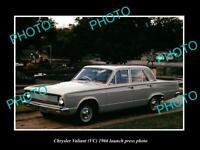 OLD POSTCARD SIZE PHOTO OF 1966 VC CHRYSLER VALIANT LAUNCH PRESS PHOTO 1