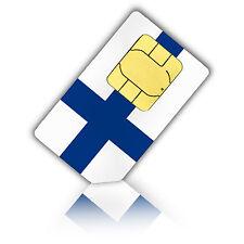 SIM Karte für Finnland mit 1GB mobiles Internet Standard/Micro + 200 Min