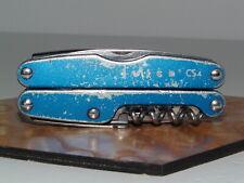 LEATHERMAN JUICE CS4 MULTI-TOOL BLUE LOOKS ROUGH OUTSIDE WORKS GREAT ON INSIDE