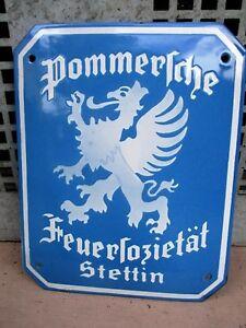 POMMERSCHE FEUERSOZIETÄT STETTIN  EV.-NR.: 107 G   um 1928
