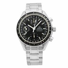 Mes Omega Speedmaster Día Fecha Esfera Negra Acero Automático Reloj de hombre 3220.50.00