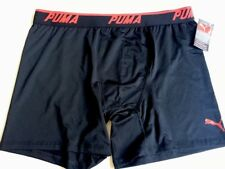 Puma Men Boxer Briefs Size L Polyester/Spandex Red/Black