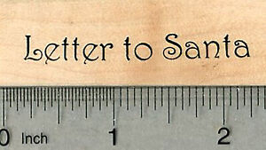 Letter to Santa Rubber Stamp, Christmas Series D37814 WM
