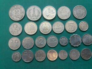 ALUMINUM COINS LOT - POLAND, GDR, FRANCE, HUNGARY, SPAIN. 20+ COINS.