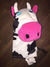 IKEA Kuscheltier Stofftier Handpuppe Plüschtier Klappar Lantlig Kuh Cow Pink Wei