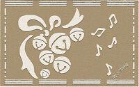 Embossingschablone Prägeschablone Metallschablone Weihnachtsglöckchen  (E-039)