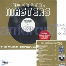 THE ORIGINAL MASTERS 2 CD DISCO EXTENDED VERSIONS ITALO