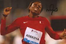 ATHLETICS: KEMI ADEKOYA SIGNED 6x4 ACTION PHOTO+COA *RIO 2016*