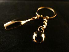 24 Karat vergoldet Schlüssel Anhänger Bowling Hobby Kugel Kegel Pin Bowling Ball