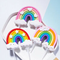 Rainbow Cake Toppers Cupcake Dessert Topper Children Birthday Party Decorations