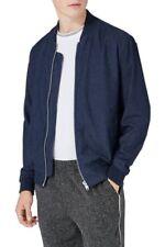 NEW Topman Embroidered 'Empire Osaka' Denim Bomber Jacket - Blue - Medium