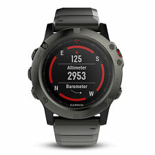 Garmin Fenix 5X Sapphire with Metal Band GPS Multisport Watch - 010-01733-04