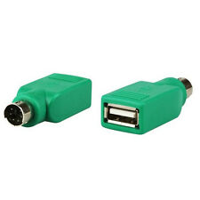 2X USB Female in to Male Adapter Converter for PS2 Computer Keyboard Mouse