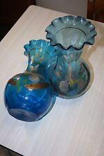 Vases vintage 1900  peintes à la main