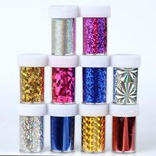 6PCS Galaxy Nail Art Transfer Wrap Foil Sticker Glitter Tip Decal Decoration DIY