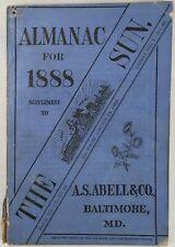 Baltimore Sun Maryland Almanac 1888