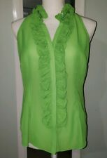 LILY PULITZER WOMEN'S SLEEVELESS TANK GREEN SHEER TOP  BLOUSE SIZE 6