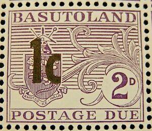BASUTOLAND 161 SG D6 1c. ON 2d. DEEP REDDISH VIOLET POSTAGE DUE  -  MNH