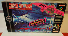 Consola Super Nintendo Entertainment System OVP consola unidad básica & 1 juego