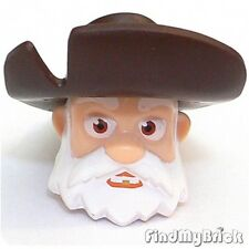 H570A Lego Stinky Pete Head Toy Story White Beard & Dark Brown Hat 7594 - NEW