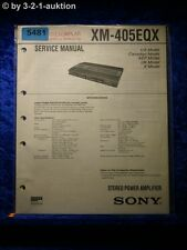 Sony Service Manual XM 405EQX Amplifier (#5481)